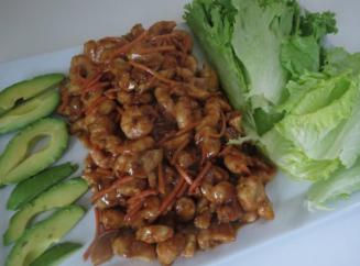 Asian Peanut Shrimp & Chicken Lettuce Wraps